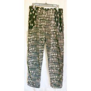 Polyester Tribal Print Jogger Pants